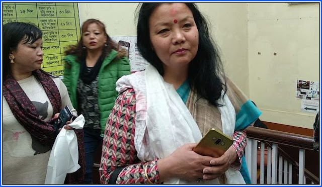 Sardha Rai Subba, in-charge of TMC (Hills) women's wing