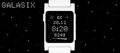 Galasix watchface - Pebble 2