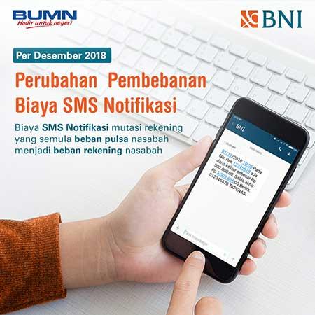 Perubahan Pembebanan Biaya SMS Notifikasi BNI