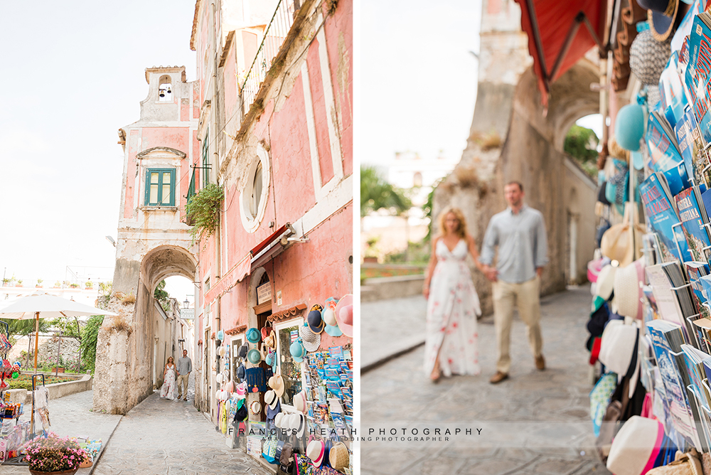 Morning engagement session in Ravello