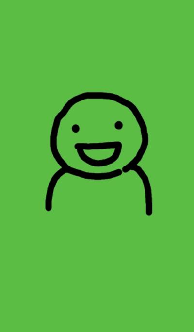 A green man