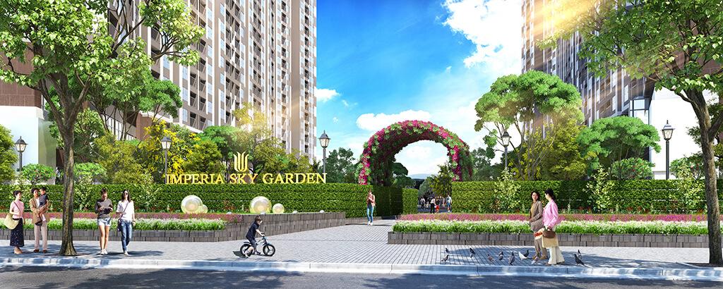 Cổng chào dự án chung cư Imperia Sky Garden 423 Minh Khai