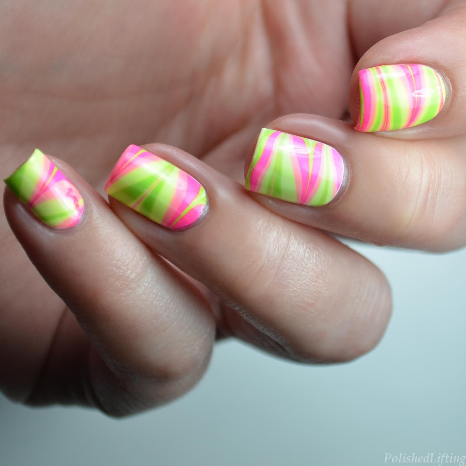 Polished Lifting: Neon Water Marble featuring Native War Paints