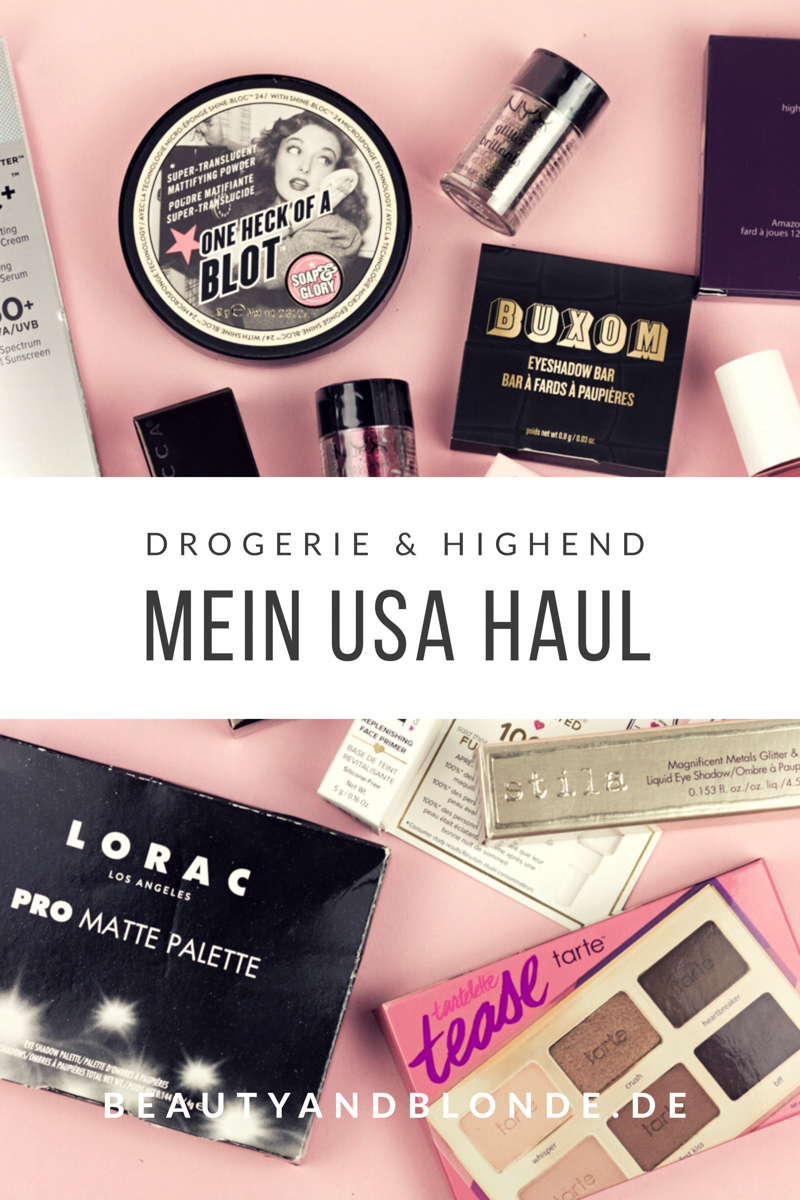 USA Haul Urlaub 2017 Drogerie Drugstore Highend Beauty Products Makeup Ulta MAC