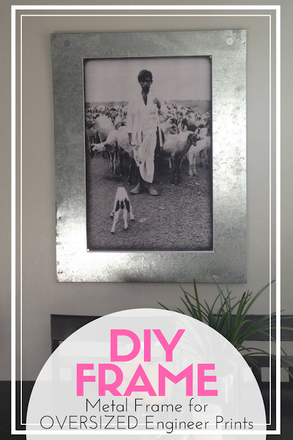 DIY Metal Frame for Engineer Prints - Super quick and easy DIY. Cost $0 in supplies