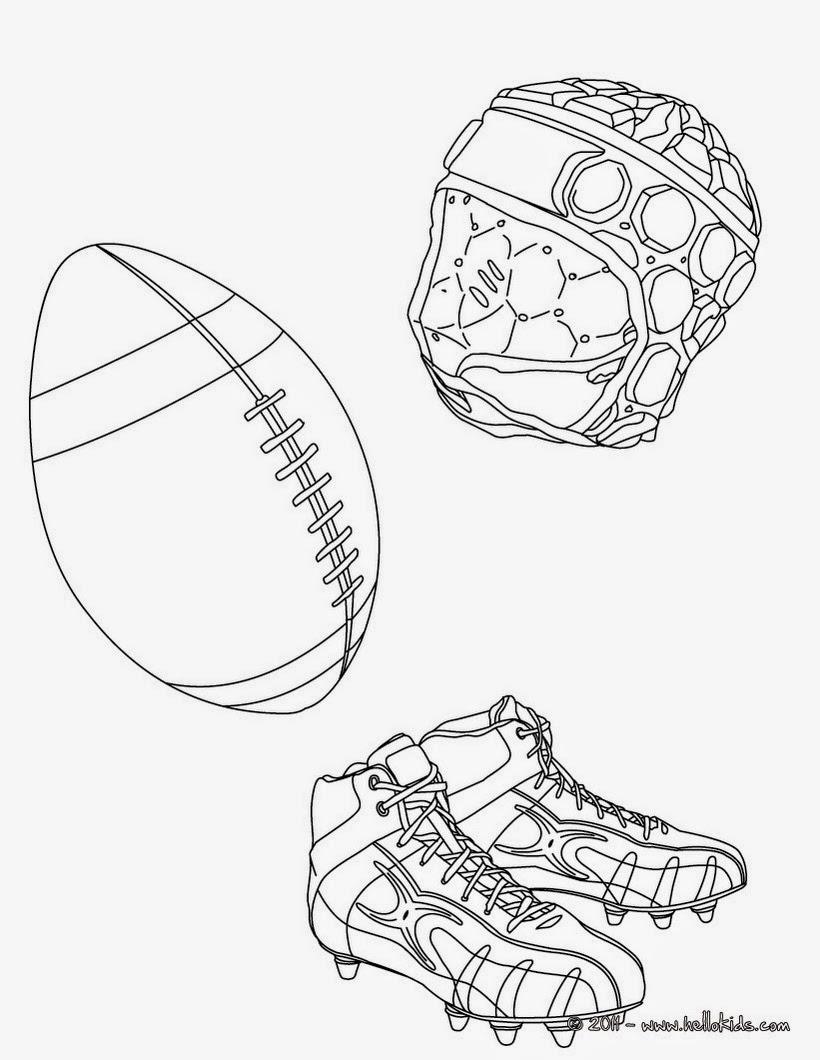 Chuteira para jogar futebol desenhos preto e branco para colorir - Coloriage de rugby ...