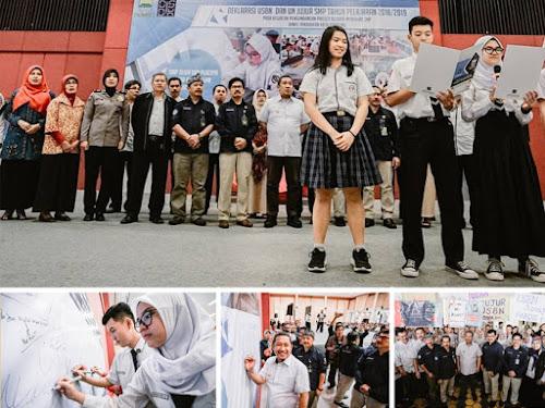 Deklarasi USBN dan UN Jujur SMP Kota Bandung
