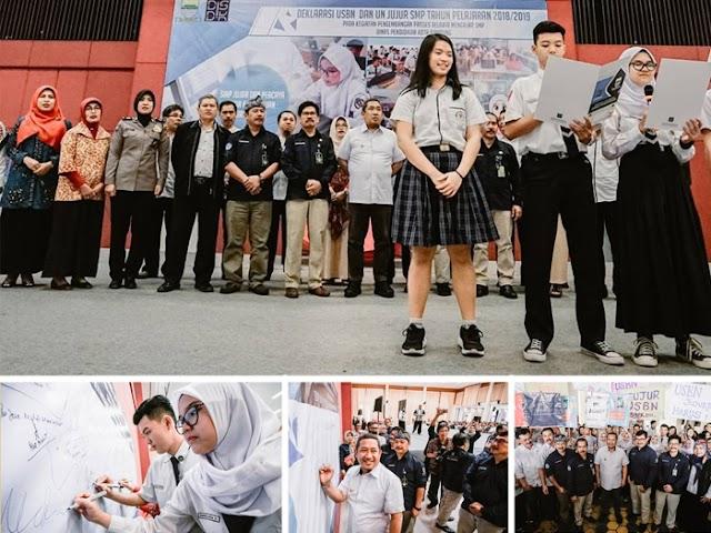 Siswa SMP Kota Bandung Deklarasikan USBN dan UN Jujur