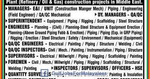 Construction Job: Construction Job Middle East