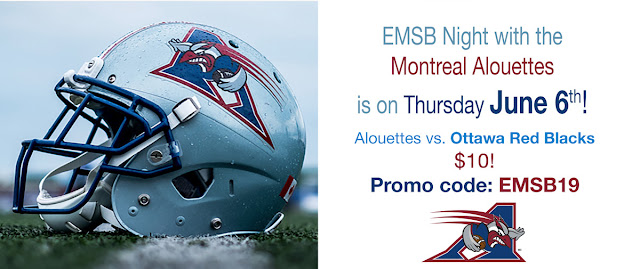 Montreal Alouettes EMSB Promotion page