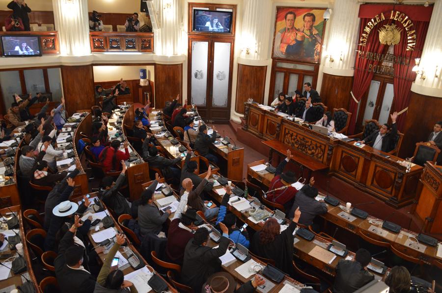 La Cámara Baja modificó la Ley 018 en sesión maratónica / DIPUTADOS