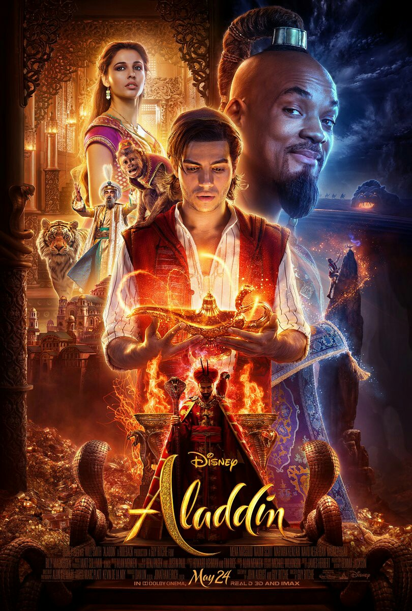 Disney's Aladdin Live-Action 2019 Remake Theatrical Poster