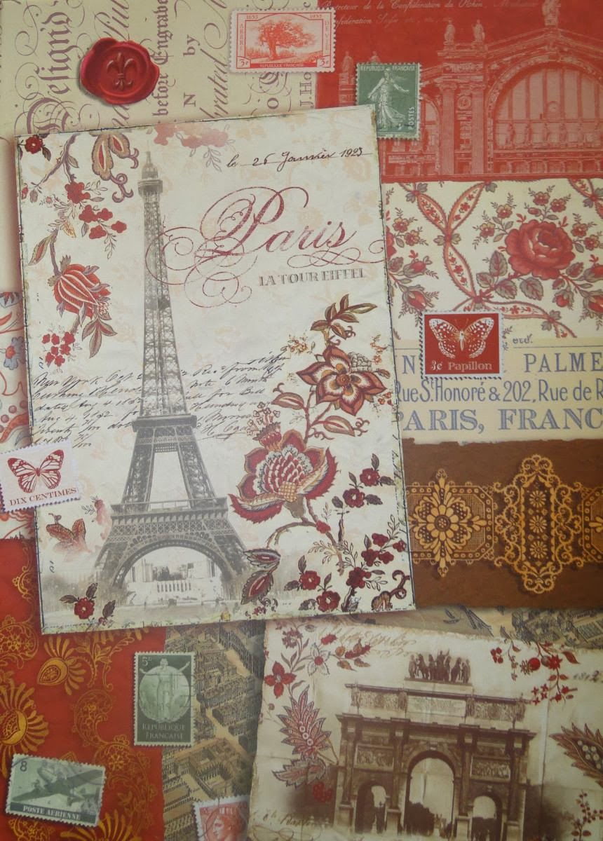 Mi maleta de recortes l minas y servilletas vintage y - Laminas para pared ...