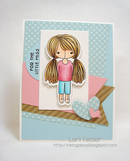 For the Little Miss-designed by Lori Tecler-Inking Aloud-stamps and dies from Clear and Simple Stamps