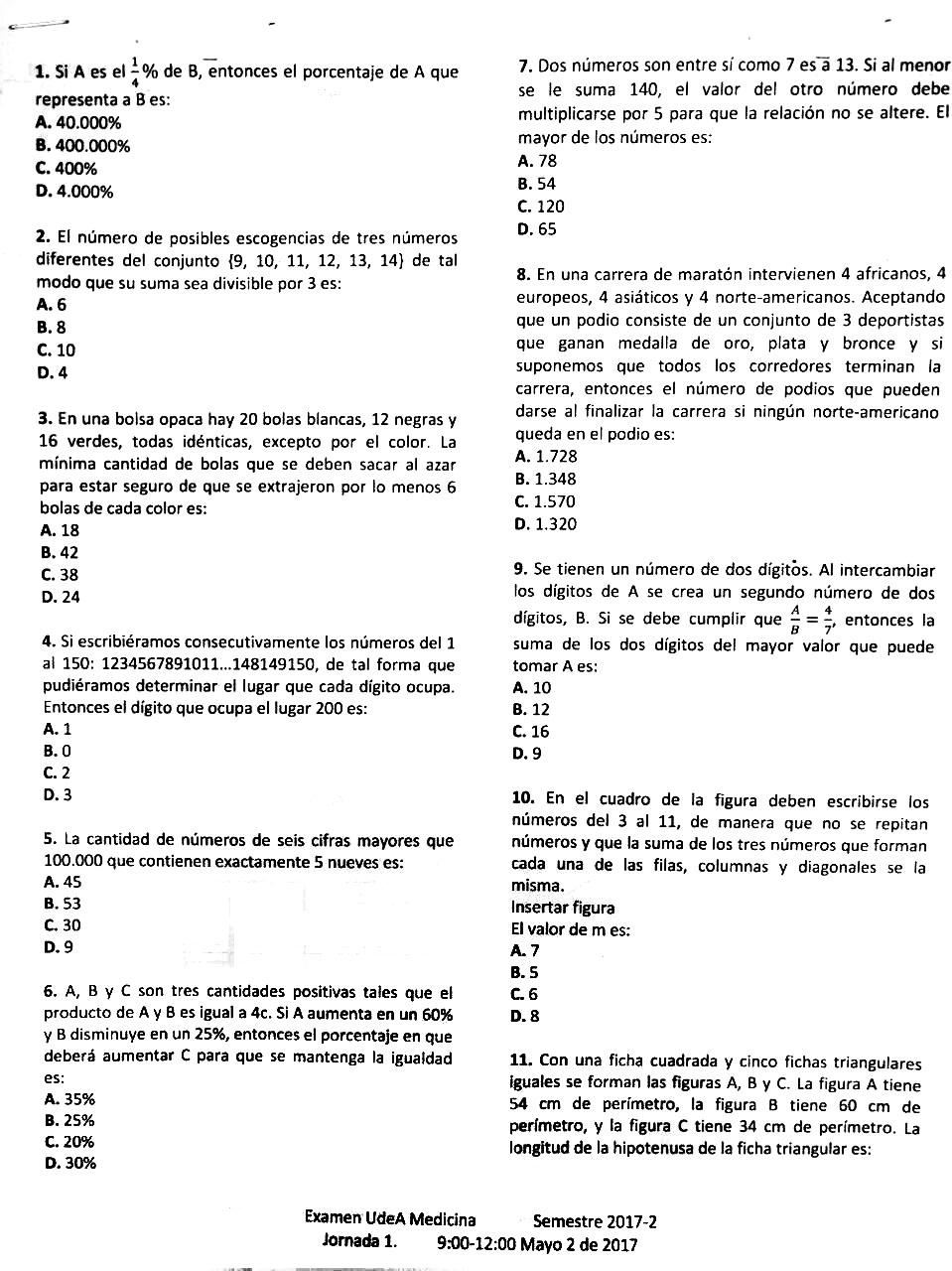 Examen admisi n udea resuelto pdf blog del profe alex for Examen para plazas docentes 2017