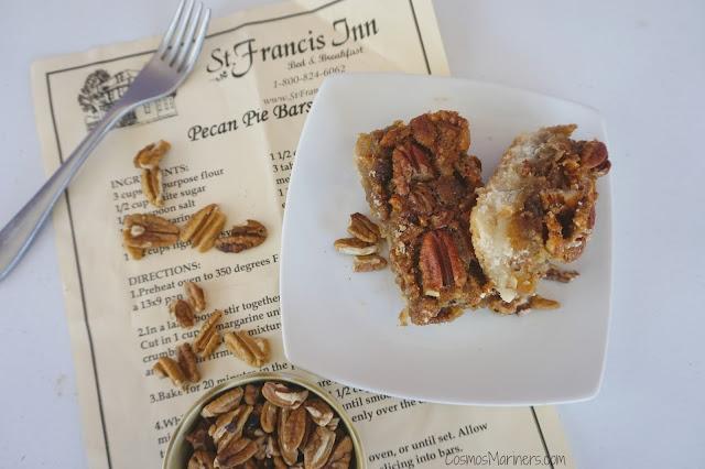 Pecan Pie Bars: St. Francis Inn, St. Augustine, Florida | CosmosMariners.com