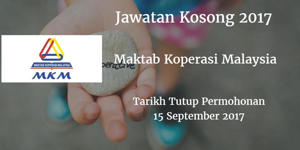 Jawatan Kosong MKM 24 September 2017