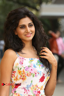 Actress Shamili Stills in Floral Short Dress at Sree Ramaraksha Song Launch 0037