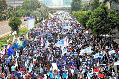 INI Semakin Meluas...Setengah Juta Buruh Siap Mogok Nasional Bergabung dengan Aksi Bela Islam Jilid III