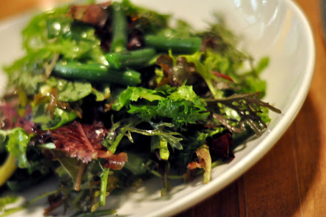 Mesclun and Pole Bean Salad - Northern Spy Food Co. - New York, NY | Taste As You Go