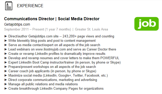 wiserutips  how to add bullet points onto your linkedin