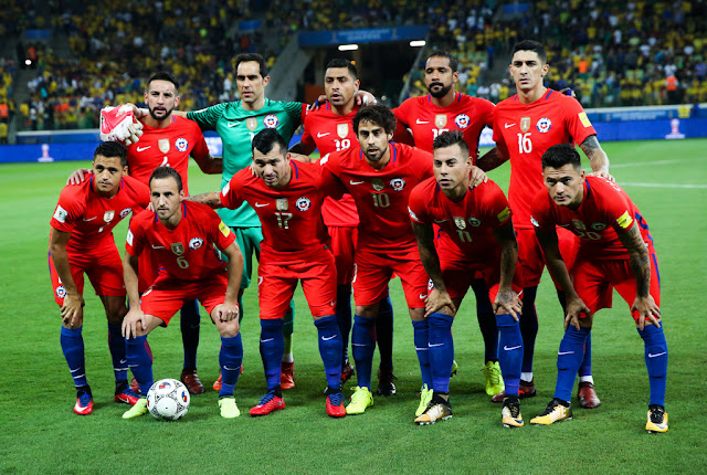 Formación de Chile ante Brasil, Clasificatorias Rusia 2018, 10 de octubre de 2017