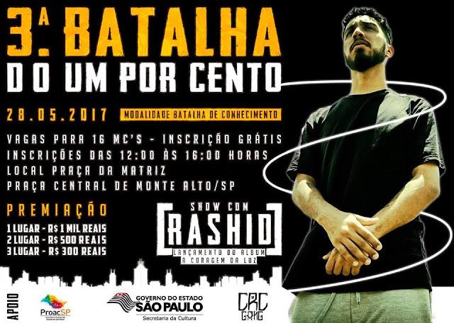 Cacareco Clã Apresenta: Batalha do 1% - Show com Rashid!