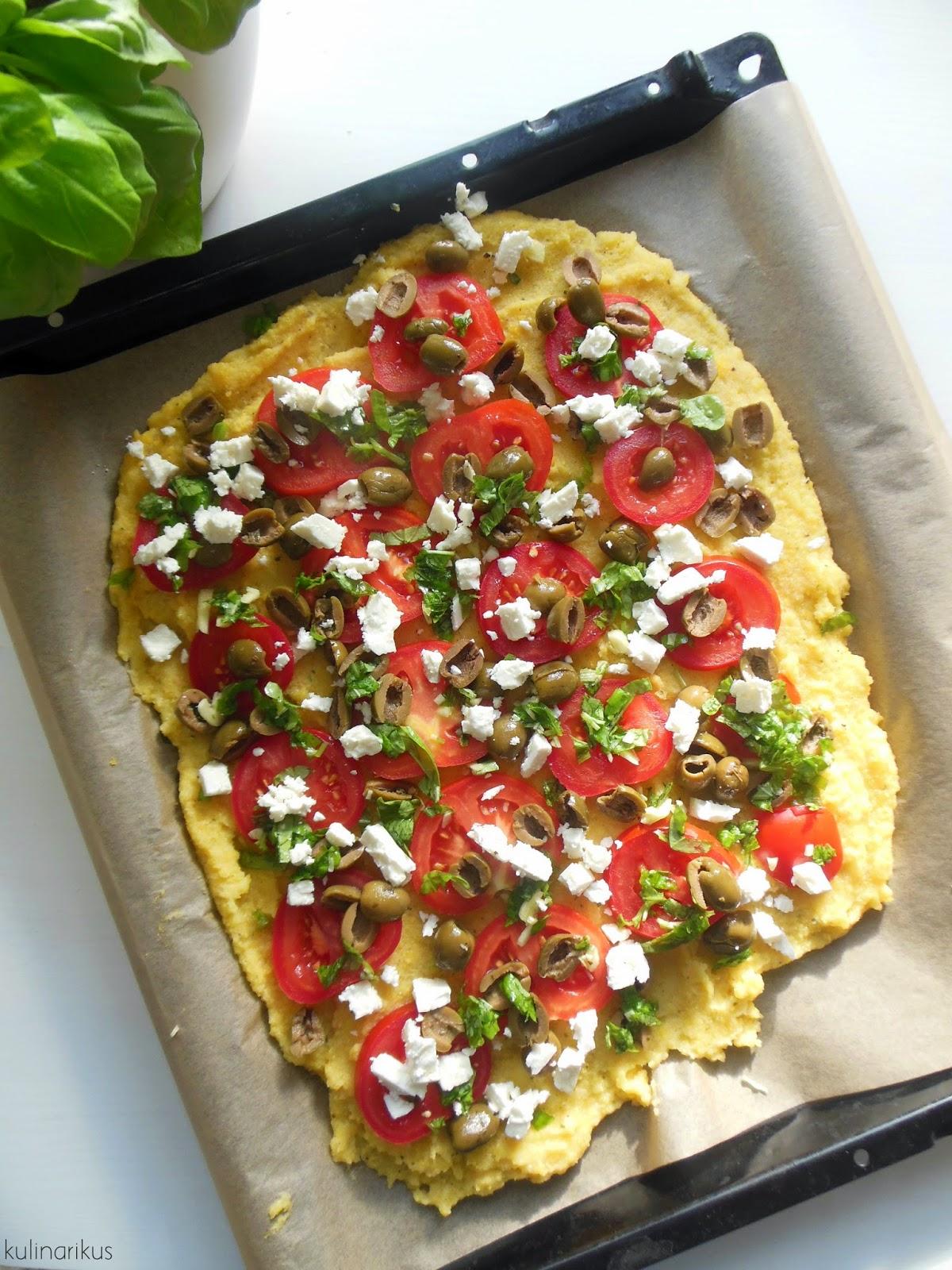 kulinarikus f r kleine sommeraugenblicke berbackene polenta mit tomaten und feta. Black Bedroom Furniture Sets. Home Design Ideas