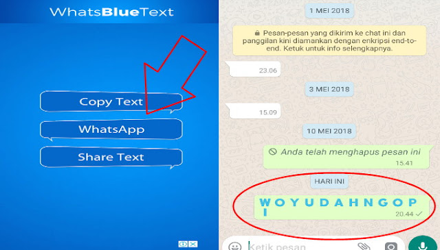 Cara Edit Tulisan WhatsApp Berwarna di Android