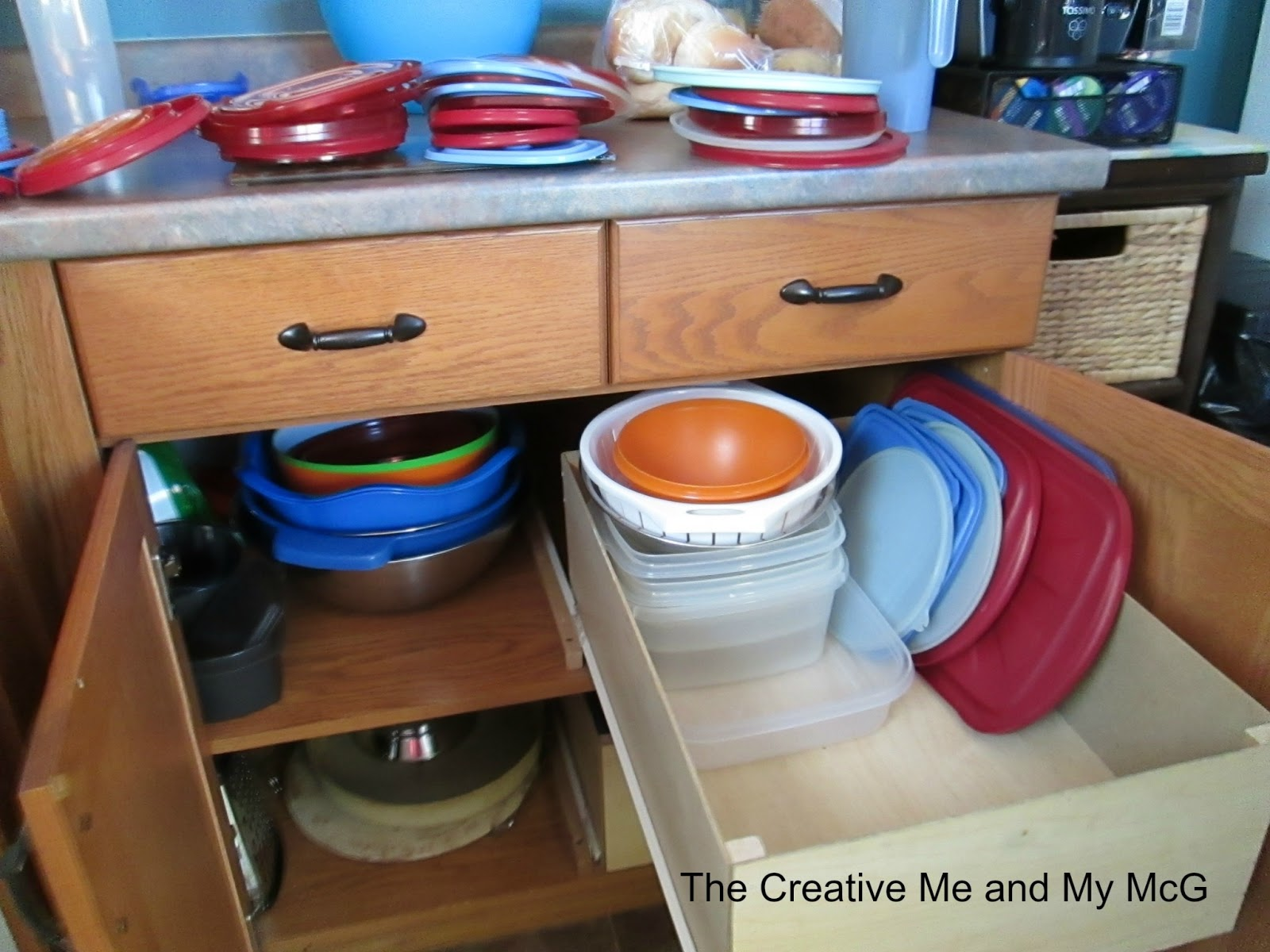 The Creative Me And My Mcg Organizing The Tupperware