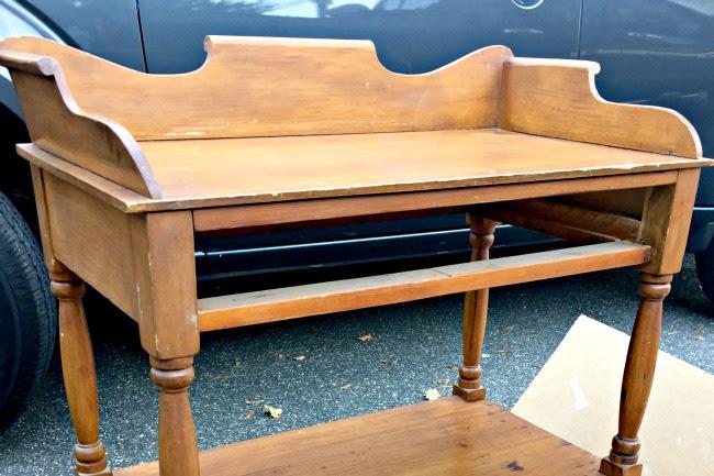 Antique Church Fair Table