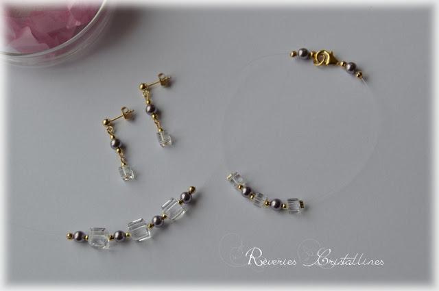 parure mariage boheme or 14 carats