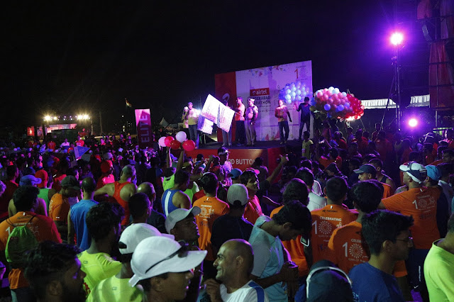 16000 Runners participated in  6th Airtel Hyderabad Marathon