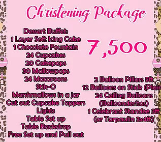 Christening Package 7,500