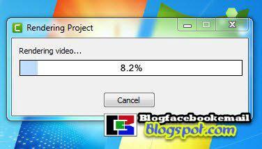 proses rendering merekam layar menggunakan camtasia