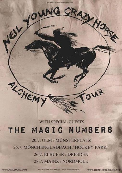 The Magic Numbers to open for Neil Young 2014