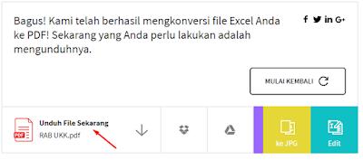 cara membuat format pdf dari excel