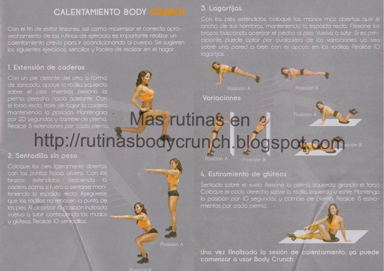 Body crunch funciona para bajar de peso