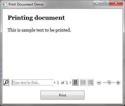 Mitesh Sureja's Blog: Printing Flow Document using WPF PrintDialog