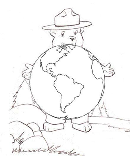 smokey the bear coloring pages # 21