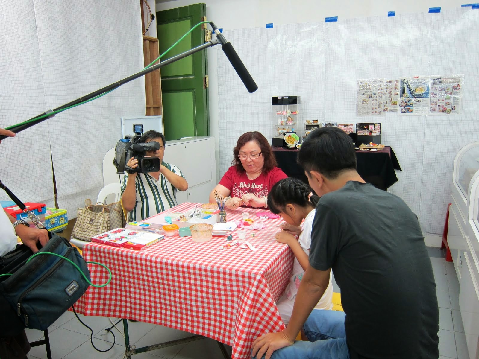 MediaCrop Filming at my workshop in 2011