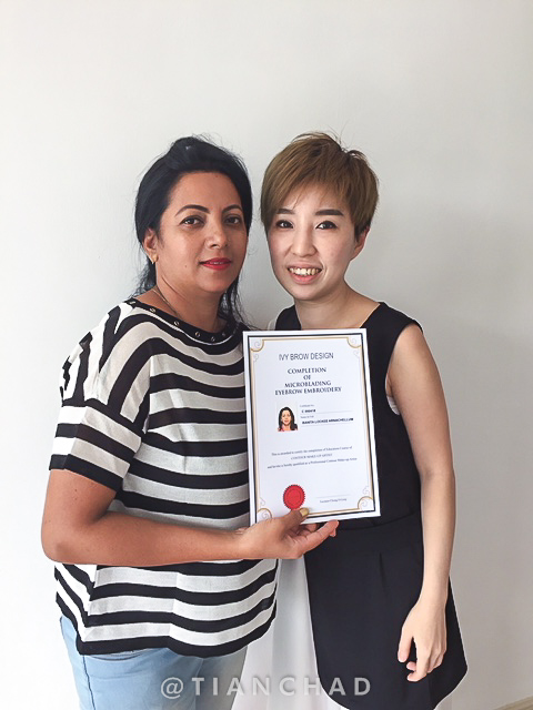 Banita Lockee Arnachellum from Mauritius completed Microblading Eyebrow Embroidery Course at Ivy Brow Design