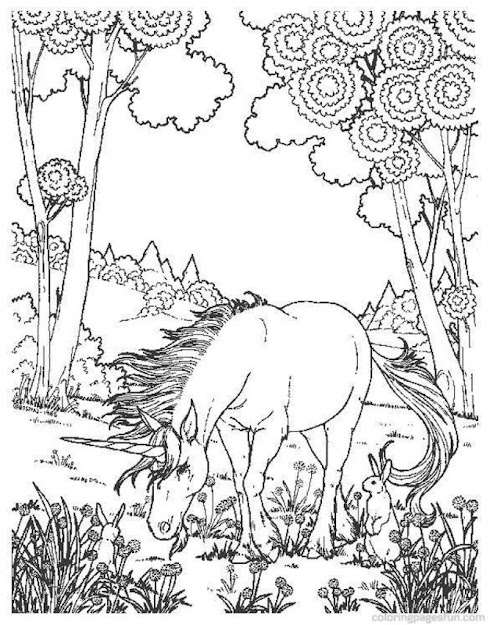 Difficult And Hard Coloring Page Of Realistic Unicorn
