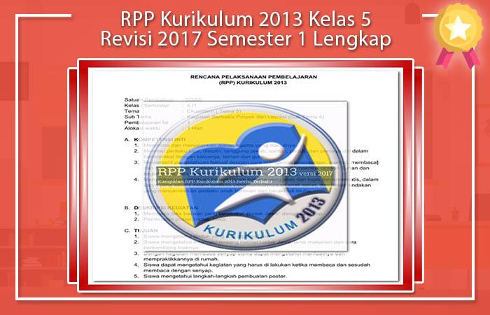 RPP Kurikulum 2013 Kelas 5 Revisi 2017 Semester 1 Lengkap