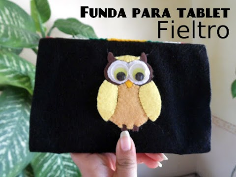 Funda para tablet con fieltro