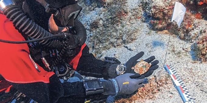 Κομμάτια από επτά χάλκινα και μαρμάρινα αγάλματα εντόπισαν οι αρχαιολόγοι στη θάλασσα των Αντικυθήρων.