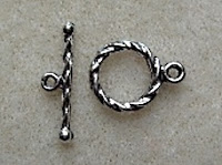 small round toggle clasp