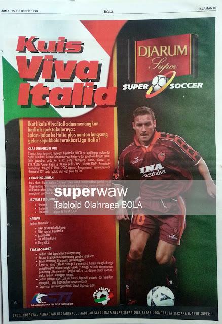Kuis Viva Italia (Francesco Totti)