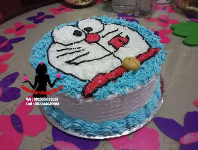 Cake Tart Buttercream Bentuk Doraemon