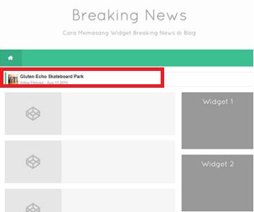 Breaking News widget blogger 2016